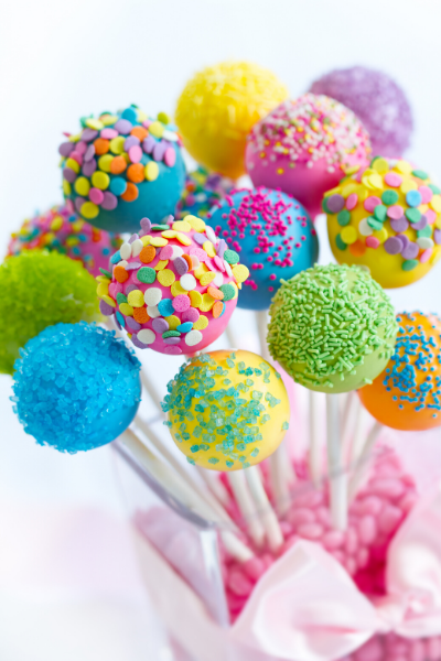 colorful cake pop bouquet teach cooking and color theory