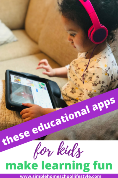 list of educational apps for kids