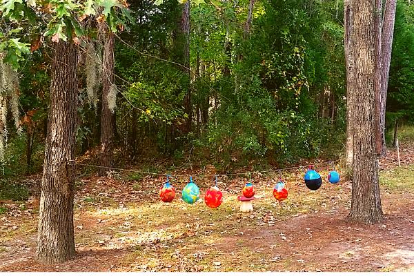 backyard lantern walk martinmas lanterns drying