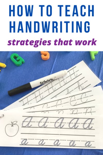 handwriting strategies teach handwriting